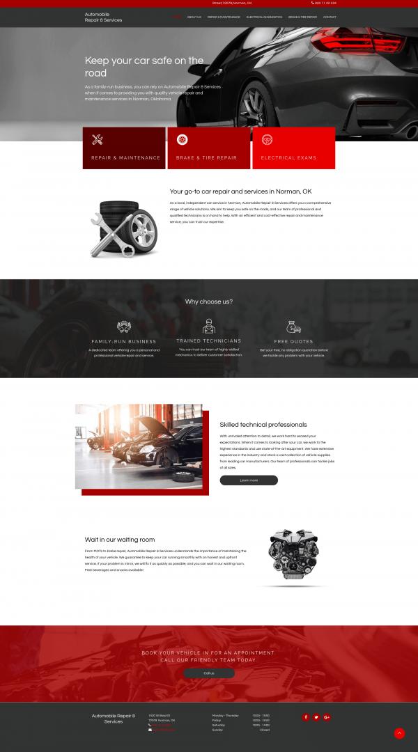 Auto Service Website