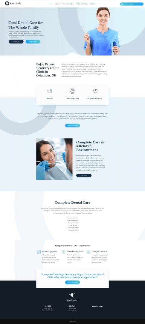 Dentist Office Website